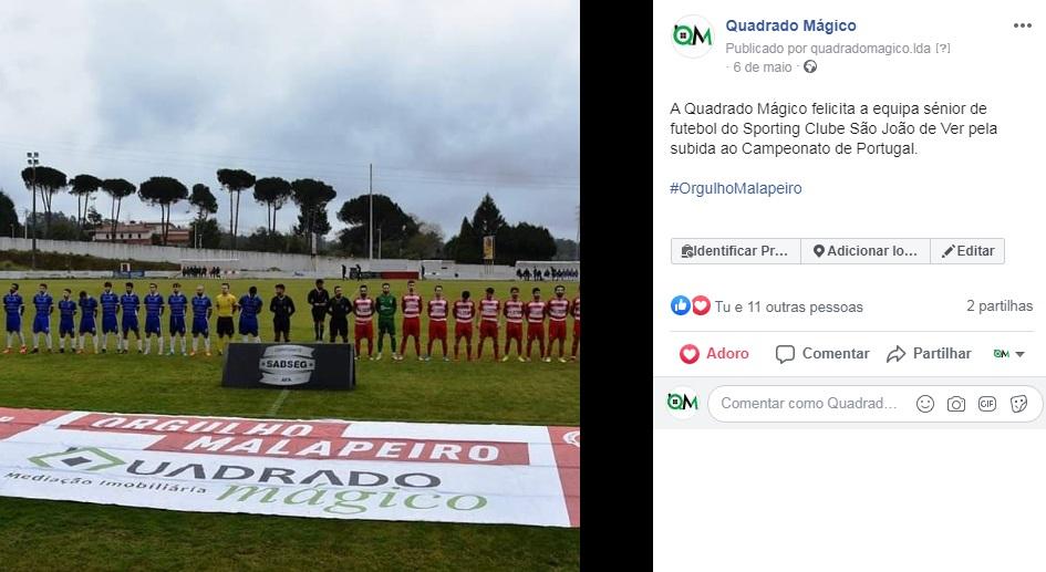 Patrocínio Sporting clube S. João de Ver SAD